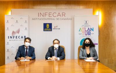 INFECAR y ExpoMeloneras firman un acuerdo de colaboración para la celebración de Atlantur 2021 en el recinto del sur de Gran Canaria
